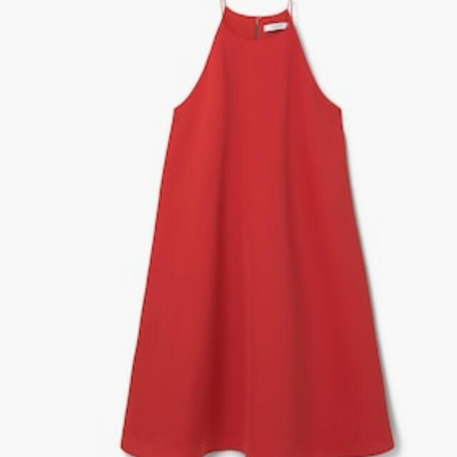 Mango Red Halter Dress