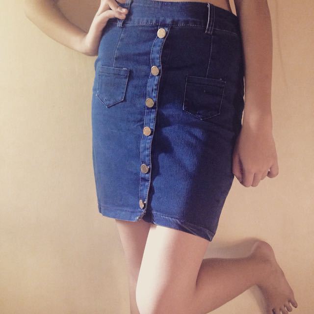Denim Skirt (Pencil Cut)