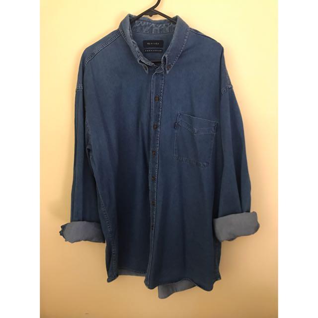 Men's Denim Shirt (XXL)