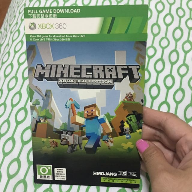 MineCraft xbox 360 (code) on Carousell