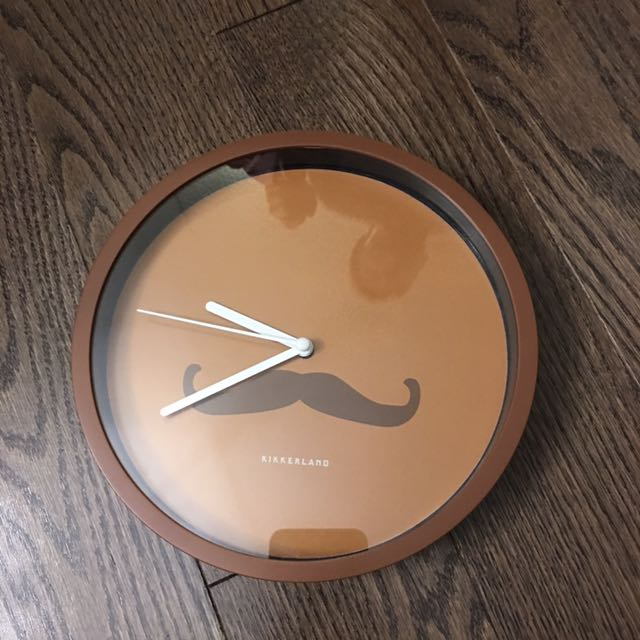 Reduced!! Moustache Wall Clock