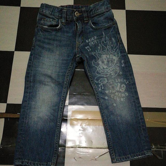 Narrow Denim Pants