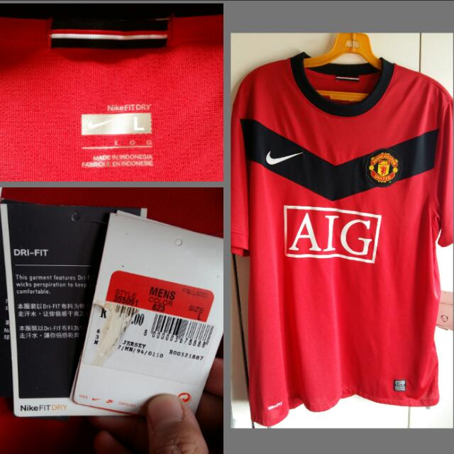 reputable site 629ac 94a8e NEW AIG NIKE Manchester United Jersey