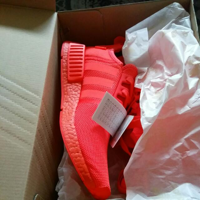 Nmd Monochrome Triple Red Size 9.5 US