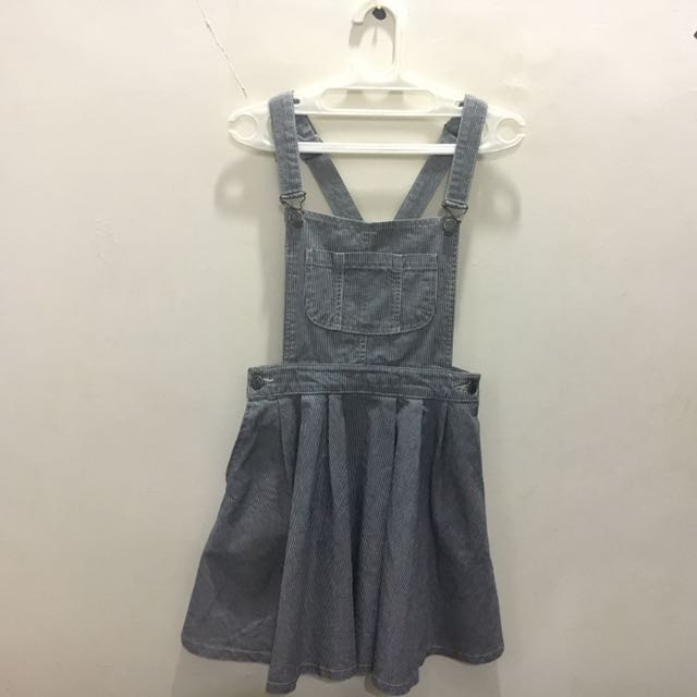 Overall Skirt Stipres Jeans Topshop