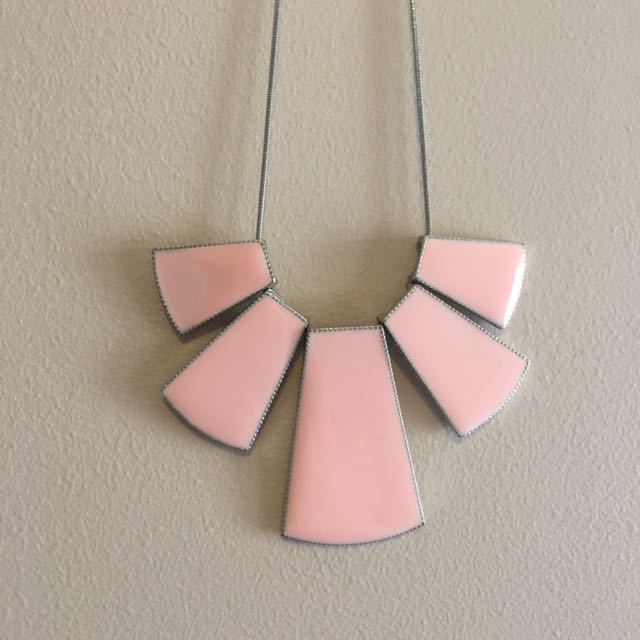 Pale Pink Statement Necklace