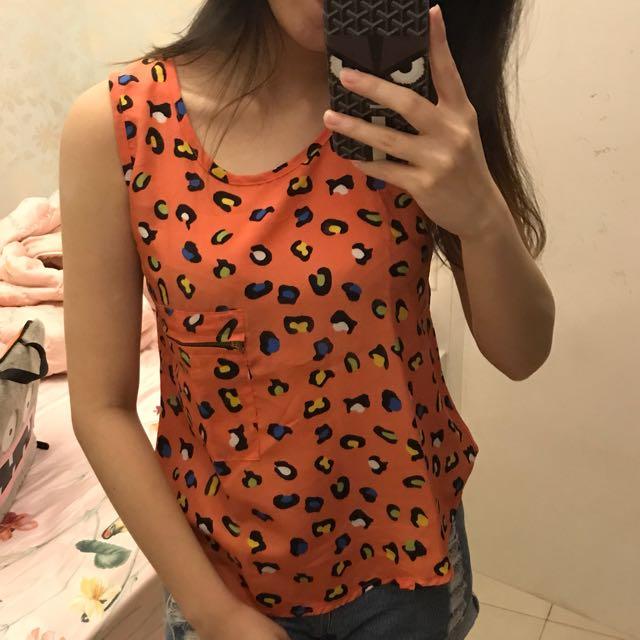 Peach Orange Tank Top