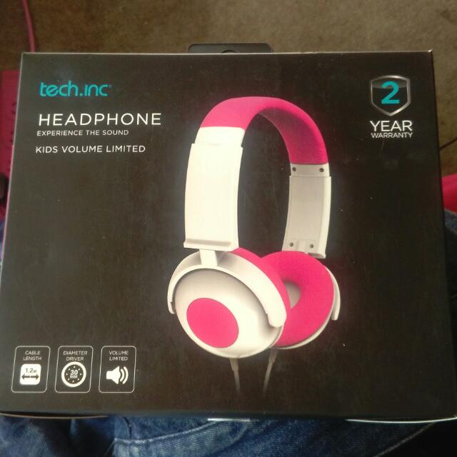 Pink And White Headphones