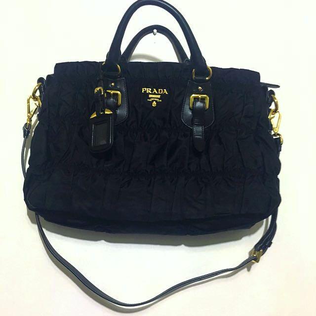Prada Tessuto Gauffre Nero Bag