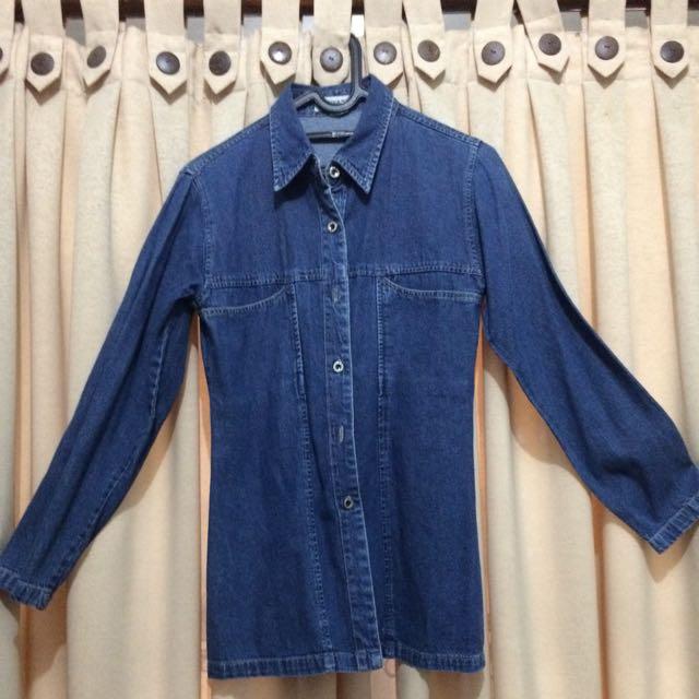 REPRICED‼️‼️ Preloved Blue Jeans Jacket