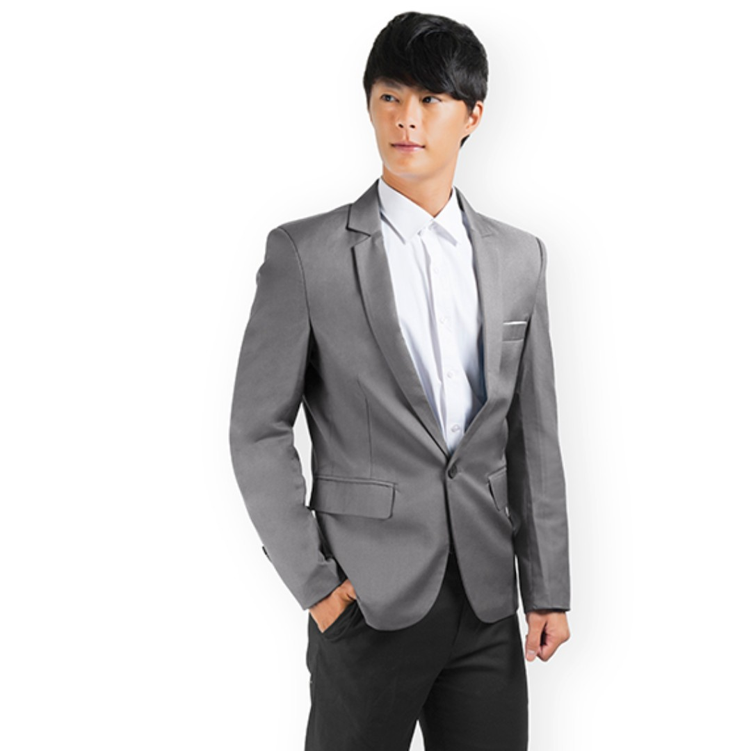 PROMOTION! Grey Blazer For PROM NIGHT!, Men\'s Fashion, Clothes on ...