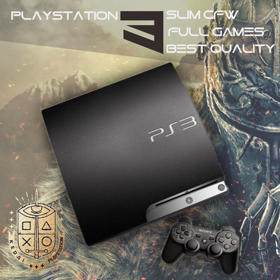 Playstation3 Slim 500gb Fullgame Cfw Ps 3 Playstation 2 20xxx Refurbish 480 Hdd Internal 120gb Photo