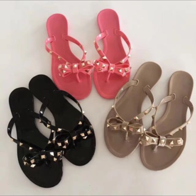 Rivets Jelly Sandals