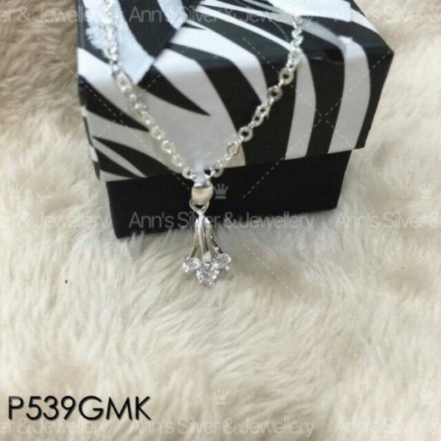 S925 Sterling Silver Necklace And Pendant