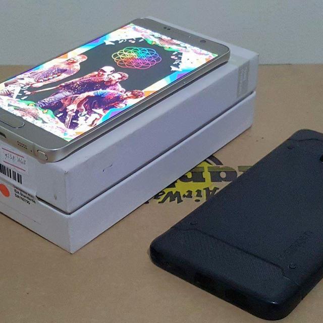Samsung Galaxy Note 5 Gold (32GB) Free Original Spigen Carbon Case