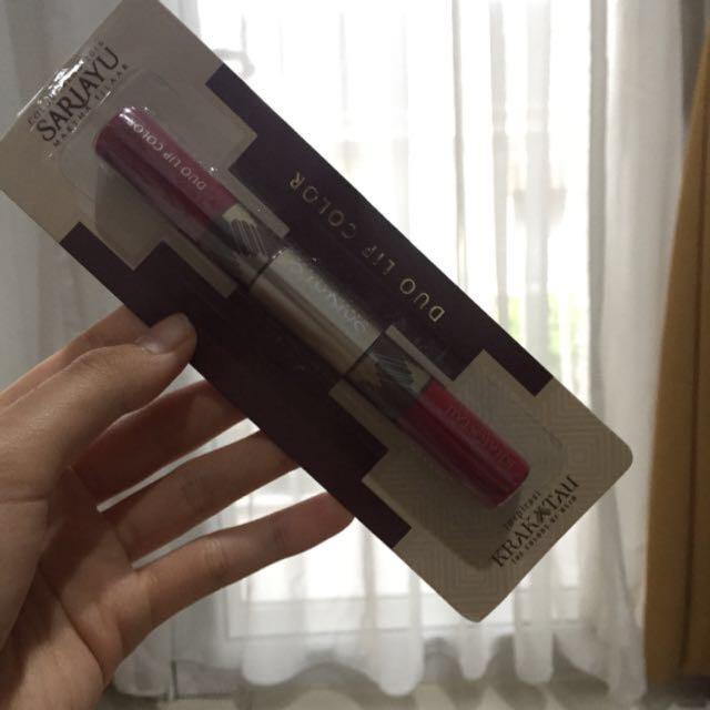Sariayu Duo Lip Color Lip Matte Lipstick Lipgloss Liptint
