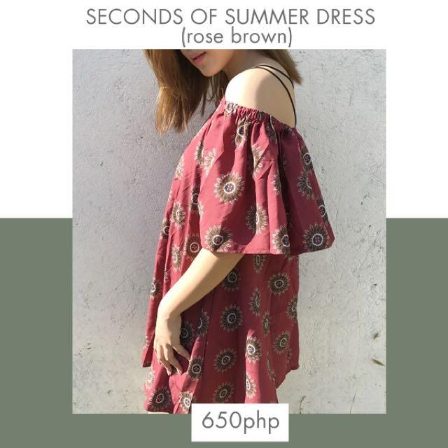 Seconds Of Summer Dress (rose Brown)