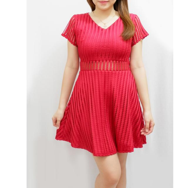 Simple Dress Warna Merah