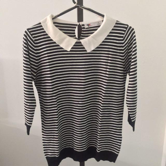 Stripe Collar Sweater