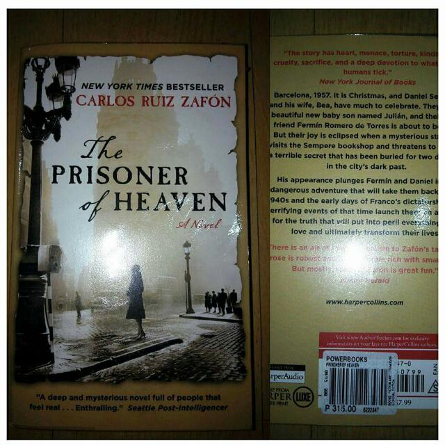 The Prisoner of Heaven by Carlos Ruis Zafon