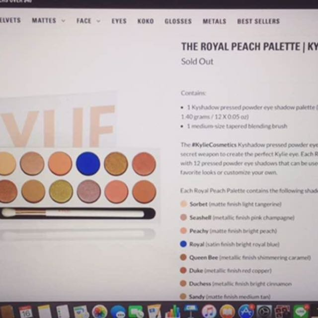 """The Royal Peach Palette"" by Kylie"