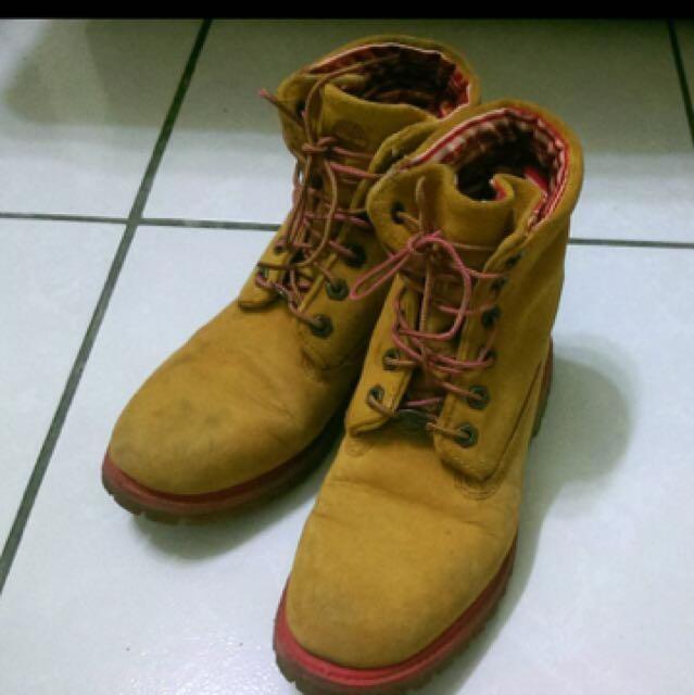 Timberland 俏皮風 粉紅女鞋