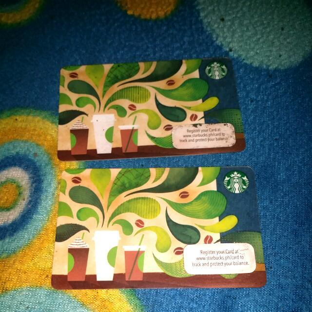 Unregistered Starbucks Card