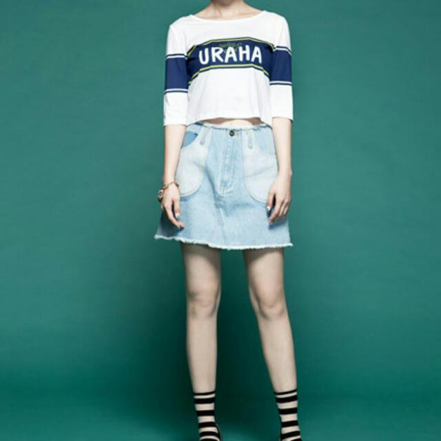 日貨usagi 剪裁設計牛仔短裙 #轉轉來交換
