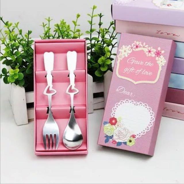 Wedding Door Gift: Wedding Door Gift Favors Spoon And Fork Set, Design