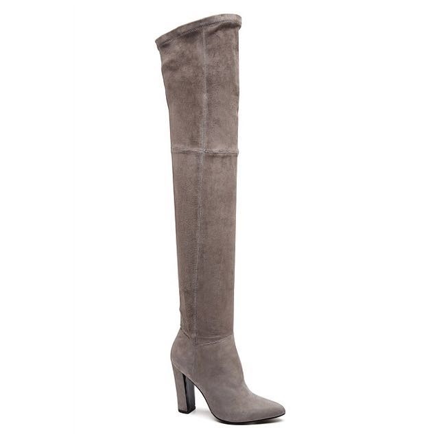 Witchery Grey Over The Knee OTK Boots Size 7.5 38 RRP$400
