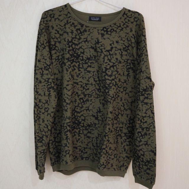 Zara Man Army Sweater