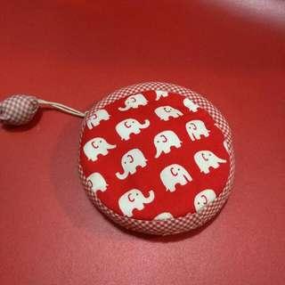 曼谷帶回紅色小象零錢包