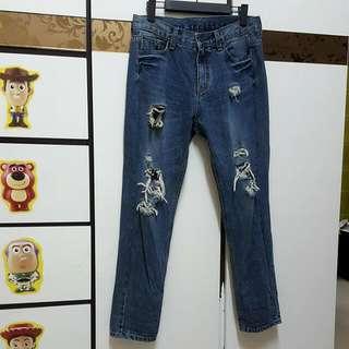 韓國牛仔長褲