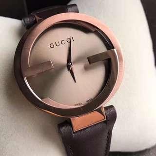 GUCCI 正品全新 YA133207男、女錶