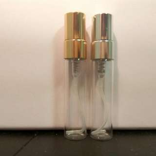 5ml Perfume Glass Atomizer with Metal spray head and cap.