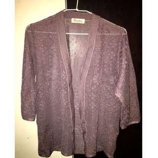 🦄極精工日本製古著薰衣草紫雕花罩衫
