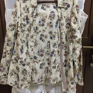 MANGO Floral Shirt