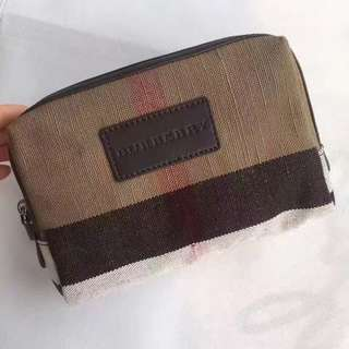 Authentic Burberry cosmetic bag