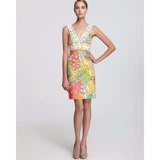 "TRINA TURK Floral Crochet ""Secret"" Dress"