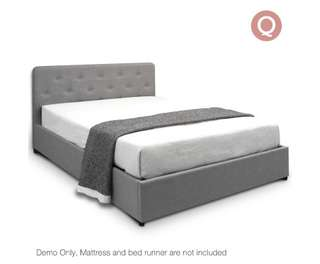 Gas Lift Storage Bed Frame - Queen