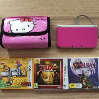 Nintendo 3DS XL in Pink
