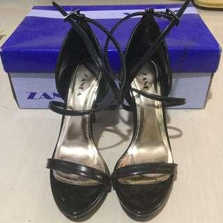 Black Strapped Heels
