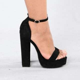 BN Velvet Heels With Sling
