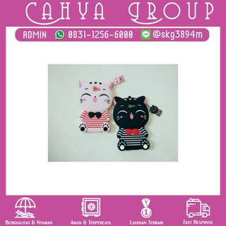 PROMO!! Samsung J7 PRIME 3D Bowknot Lucky Cat Cartoon Silicone Cases Cover