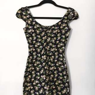 Floral Bodycon Dress [Forever 21]