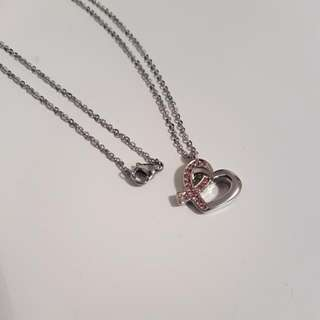 New Heart Breast Cancer Necklace