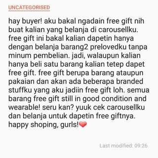 FREE GIFT!❤
