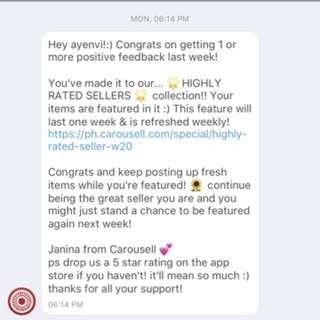 2nd Time! Thank You Carousell