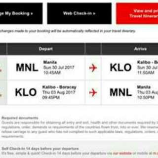 Roundtrip Airasia Ticket From Manila To Kalibo To Manila.