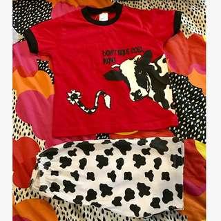 Tenderly Set 2pcs Shirt N Pant